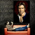 Han Solo Portrait Art Star Wars Harrison Ford Action Movie Huge 47x35 POSTER