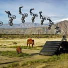 Motorbike Trick Extreme Stunt Jump Africa Huge 47x35 Print Poster