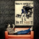 Who S Absent Is It You Military Propaganda Vintage Art Huge 47x35 POSTER