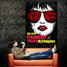 Strawberry Fields Sunglasses Girl Red Lips Art Huge 47x35 POSTER
