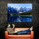 Lake Moraine Beautiful Nature Mountains Forest Huge 47x35 POSTER