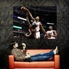 Derrick Rose Blocks Chalmers Chicago Bulls NBA Basketball Huge 47x35 POSTER