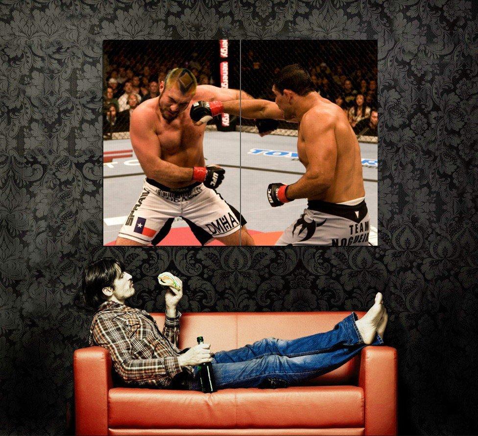 Nogueira Vs Herring MMA Mixed Martial Arts Huge 47x35 Print POSTER