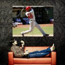 Torii Hunter Angels Baseball MLB Huge 47x35 Print POSTER