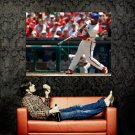 Jimmy Rollins Hitting Baseball MLB Huge 47x35 Print POSTER