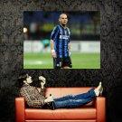 Wesley Sneijder Inter Football Sport Huge 47x35 Print POSTER