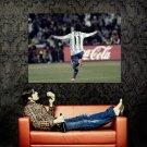 Carlos Tevez Goal Celebration Argentina Huge 47x35 Print POSTER