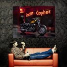 Harley Davidson Sportster Chopper Huge 47x35 Print POSTER