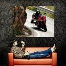 Yamaha Red Black Super Sport Bike Huge 47x35 Print POSTER