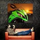 Kawasaki Ninja ZX 10R Sunset Sport Bike Huge 47x35 Print POSTER