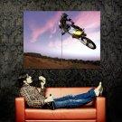 Suzuki Air Jump Motocross Bike Huge 47x35 Print POSTER