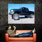 Ford F 250 Black Monster Truck Car Huge 47x35 Print POSTER
