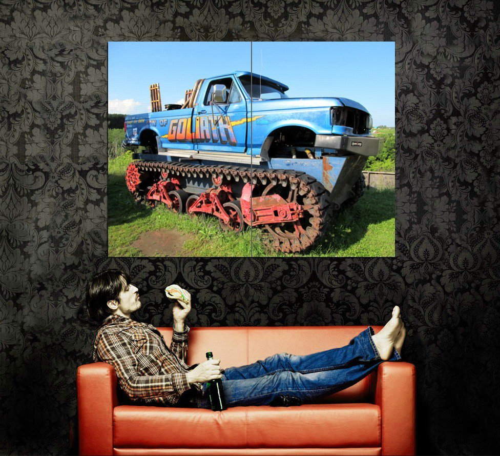 Goliath Monster Truck Tracked Bigfoot Huge 47x35 Print POSTER