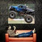 Firestone Jump Monster Truck Car Bigfoot Huge 47x35 Print POSTER