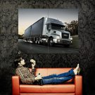 Iveco Powerstar 6x4 Silver Truck Trailer Huge 47x35 Print POSTER