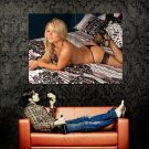 Topless Blonde Babe Sexy Body Stocking Huge 47x35 Print POSTER