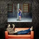Cute Asian Girl Lonely Street Huge 47x35 Print POSTER