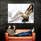 Thoughtful Hottie Sexy Girl Stocking Huge 47x35 Print POSTER