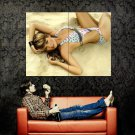 Melissa Giraldo Sexy Model Sand Bikini Huge 47x35 Print POSTER