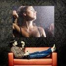Hot Brunette Babe Wet Body Rain Huge 47x35 Print POSTER