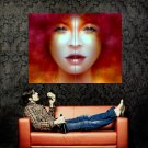 Tempting Beautiful Girl Portrait Eyes Lips Huge 47x35 Print POSTER