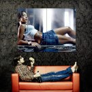 Hot Wet Babe Jeans Skirt Sexy Legs Huge 47x35 Print POSTER