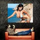 Denise Milani Hot Sexy Bikini Big Boobs Huge 47x35 Print POSTER