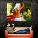 Sexy Topless Babe Hot Butt Back Ass Huge 47x35 Print POSTER