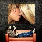 Hot Kissing Blonde Girls Lesbian Huge 47x35 Print POSTER