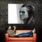 Hot Girl Color Sunglasses BW Huge 47x35 Print POSTER