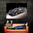 Pagani Black Carbon Supercar Huge 47x35 Print POSTER