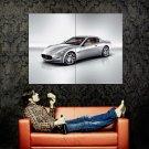 Maserati Silver GT Supercar Huge 47x35 Print POSTER