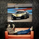 Marussia B2 Gold Race Supercar Huge 47x35 Print POSTER