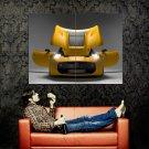 Protoscar Yellow Sport Car Doors Hood Huge 47x35 Print POSTER