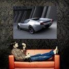 Panthera Silver Future Concept Car Huge 47x35 Print POSTER