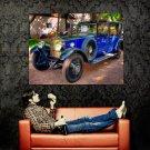 Rolls Royce 1929 Blue Retro Car Huge 47x35 Print POSTER