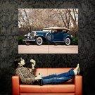 Duesenberg Blue Retro Car Huge 47x35 Print POSTER