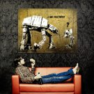 I Am Your Father Star Wars At At At St Huge 47x35 Print Poster