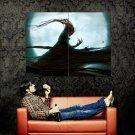 Dark Demon Blood Monn Fantasy Art Huge 47x35 Print POSTER