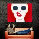Girl Lips Piercing Cool Vector Art Style Huge 47x35 Print POSTER