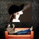 Hot Smoking Girl Hat Art Style Huge 47x35 Print POSTER