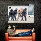 Swat Police Naked Man Cool Huge 47x35 Print Poster