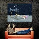 Shooting Starfish Cool Night Art Huge 47x35 Print POSTER