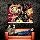 Zombie Rabbit Skeleton Cool Art Huge 47x35 Print POSTER