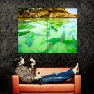 Green Lake Small Fishes Nature Huge 47x35 Print POSTER
