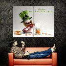 Rayman Rabbit Beer St Patrick S Day Huge 47x35 Print POSTER