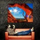 Red Desert Sun Rocks Snag Nature Huge 47x35 Print POSTER