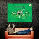 Happy St Patrick S Day Beer Holiday Huge 47x35 Print POSTER