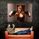 Sexy Girl Boobs Pistols Handguns Weapon Huge 47x35 Print POSTER