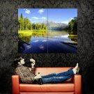 Lake Sky Green Hills Landscape Huge 47x35 Print POSTER